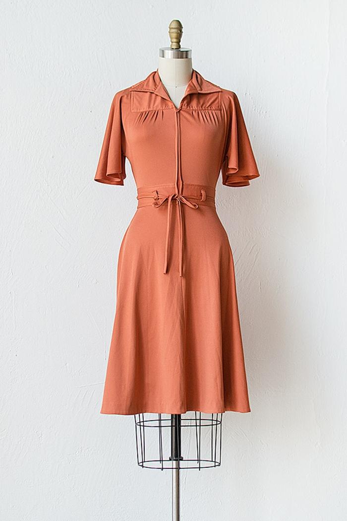 kleider vintage 50er oranges modell vintage mode damen