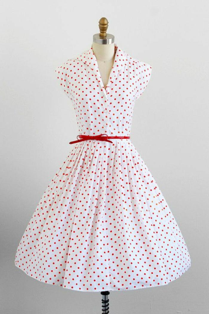 kleider vintage 50er vintage mode damen polka dot muster