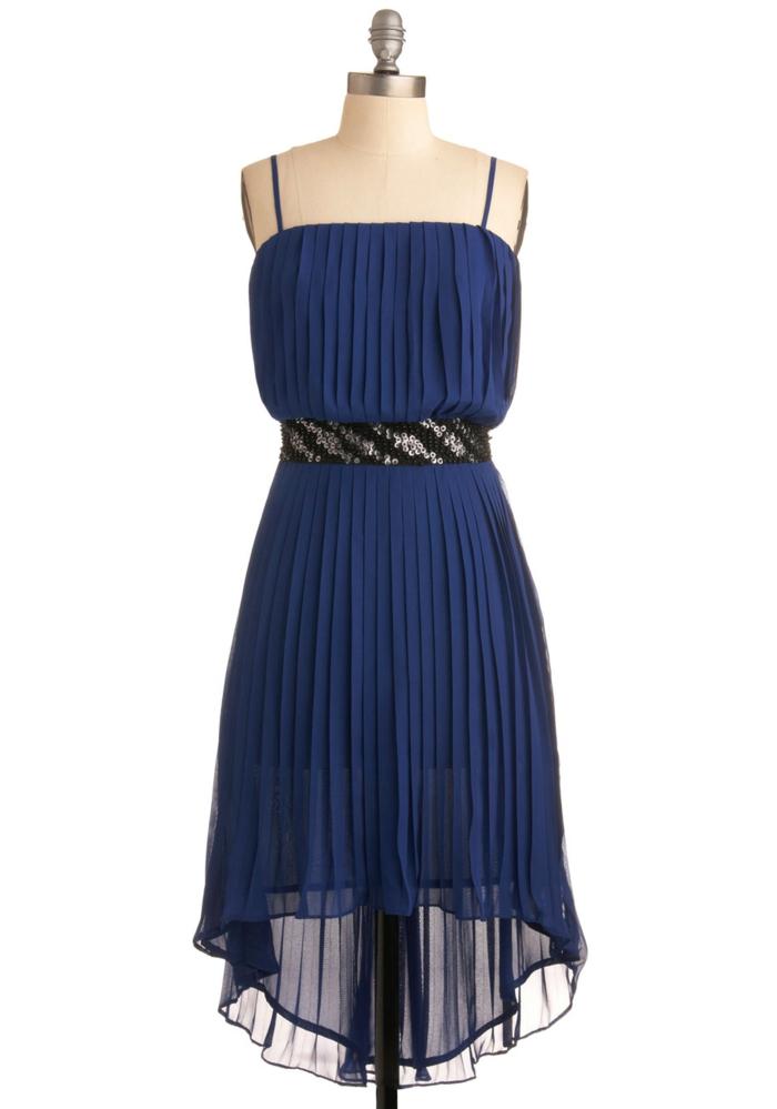 kleider vintage dunkelblau vintage mode damen