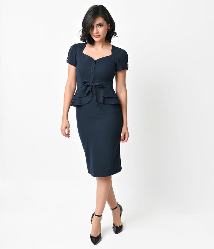 kleider vintage elegantes kleid 40er vintage mode