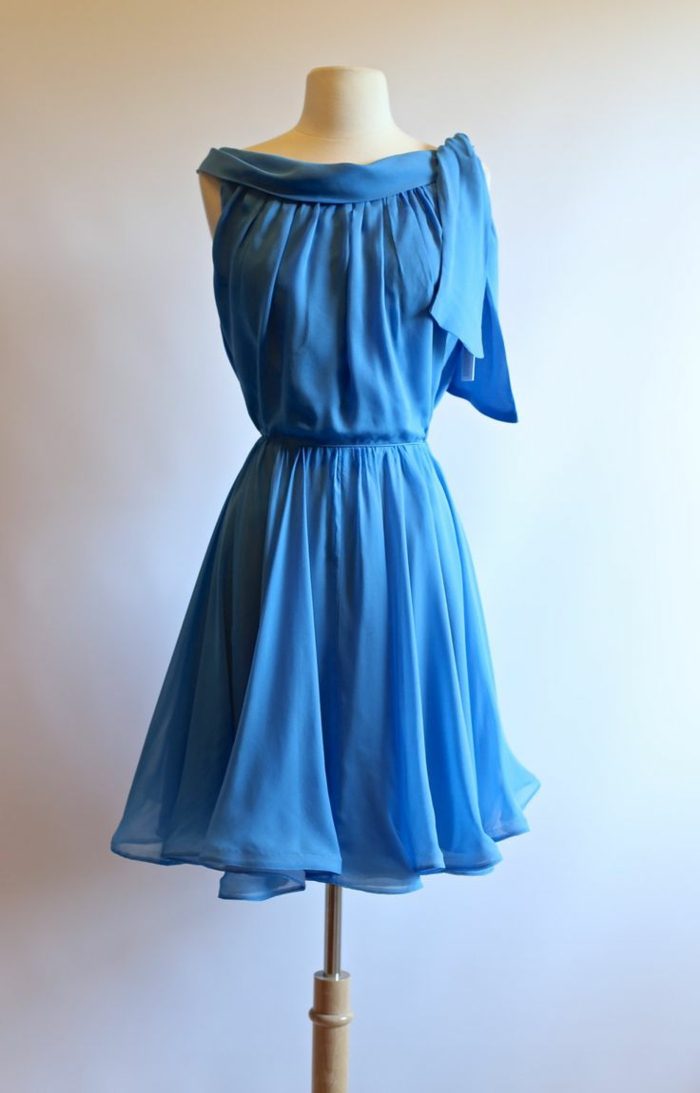 kleider vintage etsy blau vintage mode damen