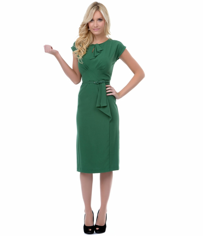 kleider vintage grün 40er vintage mode damen