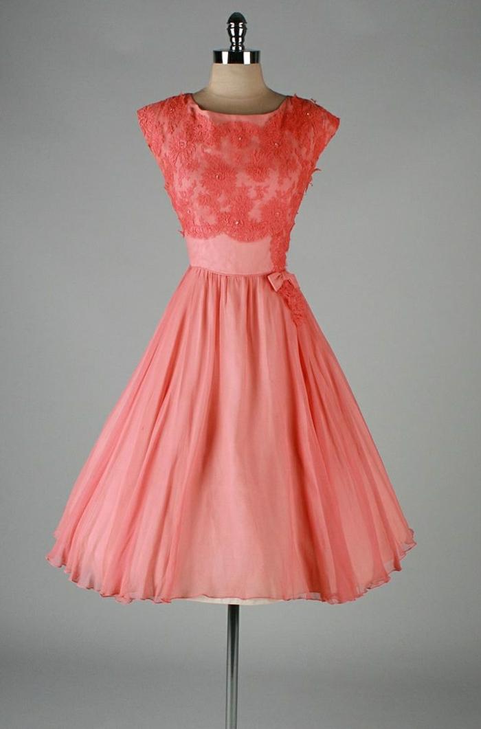 kleider vintage pfirsich farbe 50er vintage mode damen