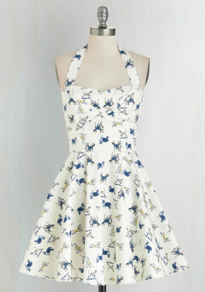 kleider vintage retro frisches stoffmuster vintage mode damen