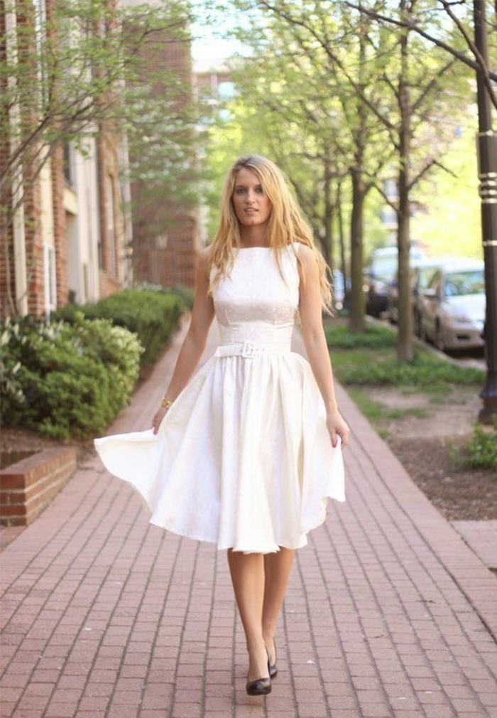 kleider vintage weiß 50er 60er vintage mode