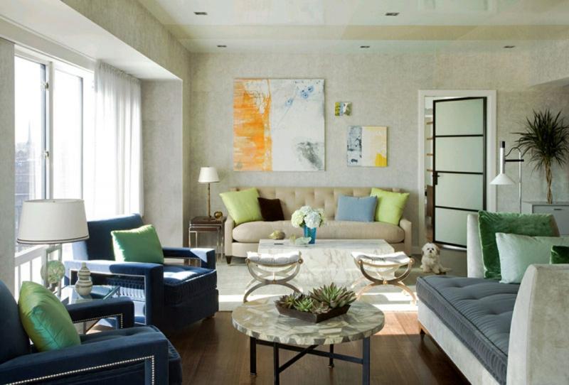 kreative Wohnideen modernes Wohnzimmer dekorieren Wanddeko
