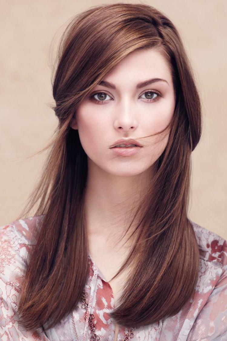 moderne Damenfrisuren natürliches Make up Schminktipps