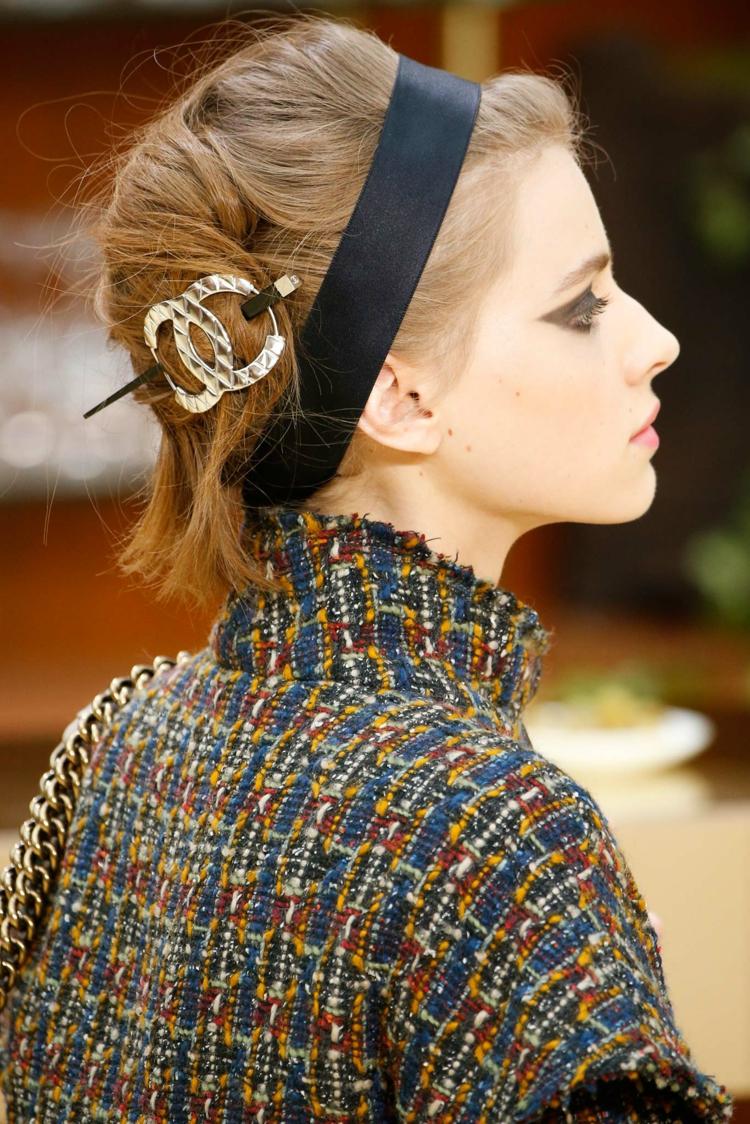 moderne Damenfrisuren und Haaraccessoires
