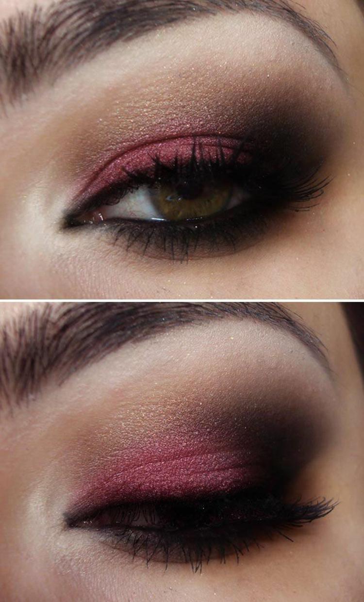 moderne Damenfrisuren und Schminktipps Augen smokey eyes schminken