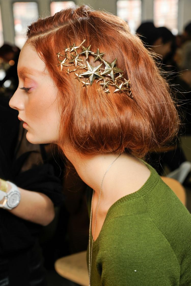 moderne Frisuren Damen und Schminktipps Haaraccessoires