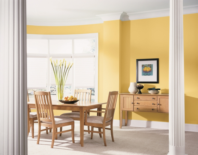 Moderne wandfarben f rs jahr 2016 welche sind die neuen trendfarben - Wandfarbe gelb ...