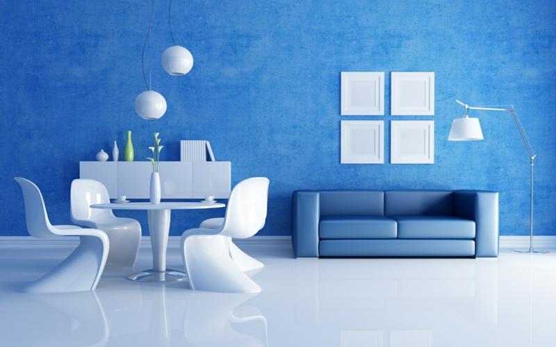 Moderne Wandfarben Aussuchen Kalte Wandfarbe Blau