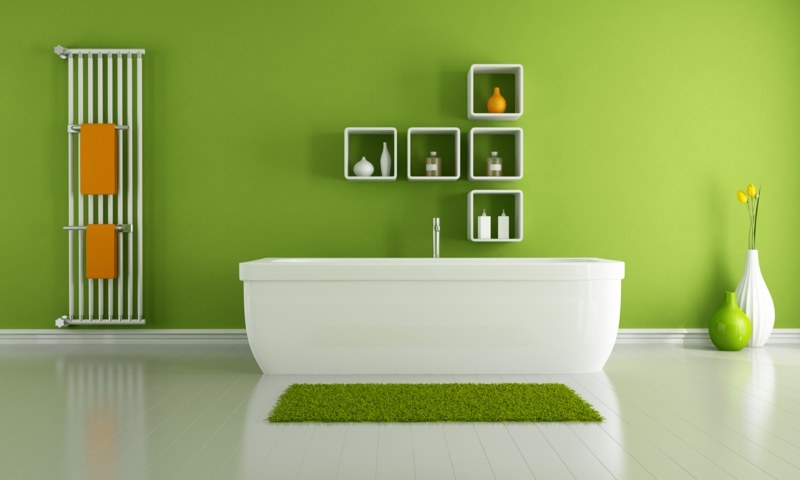 moderne wandfarben badezimmer wandfarbe grün