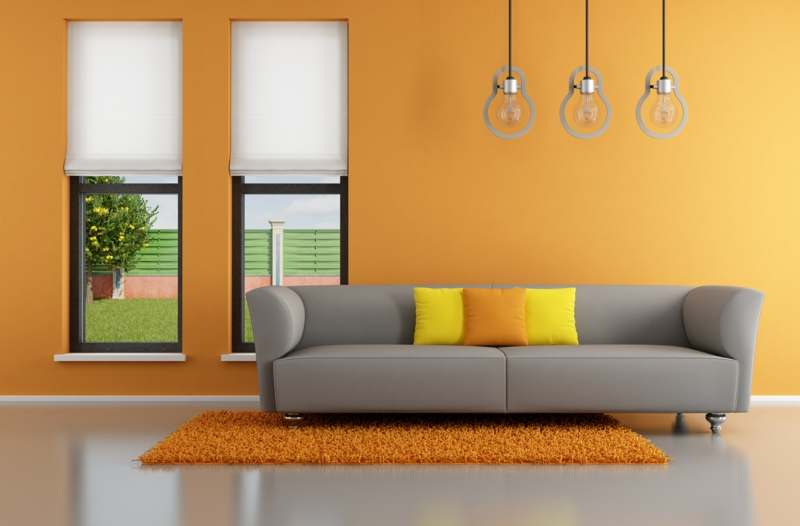 Moderne Wandfarben Orange Warme Ideen