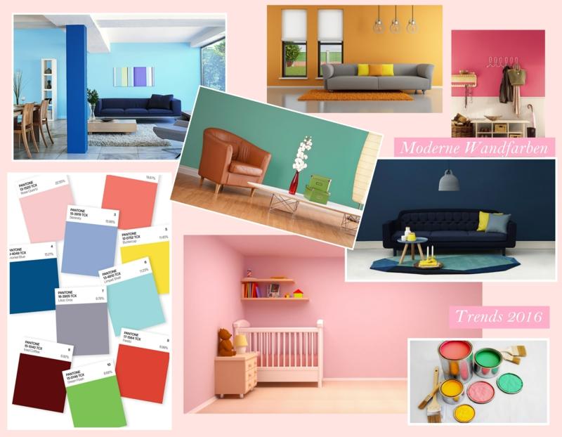 Moderne wandfarben f rs jahr 2016 welche sind die neuen for Moderne wandfarben
