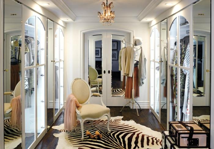 offener kleiderschrank ankleidezimmer möbel begehbarer kleiderschrank-ideen