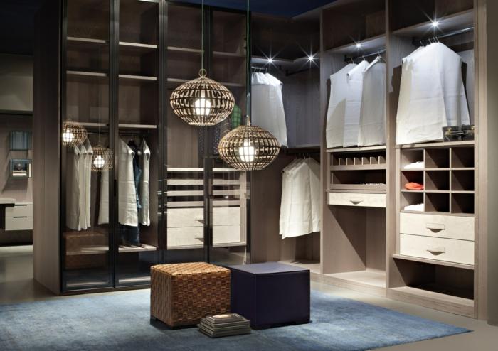 offener kleiderschrank beleuchtungsidee ankleidezimmer einrichten