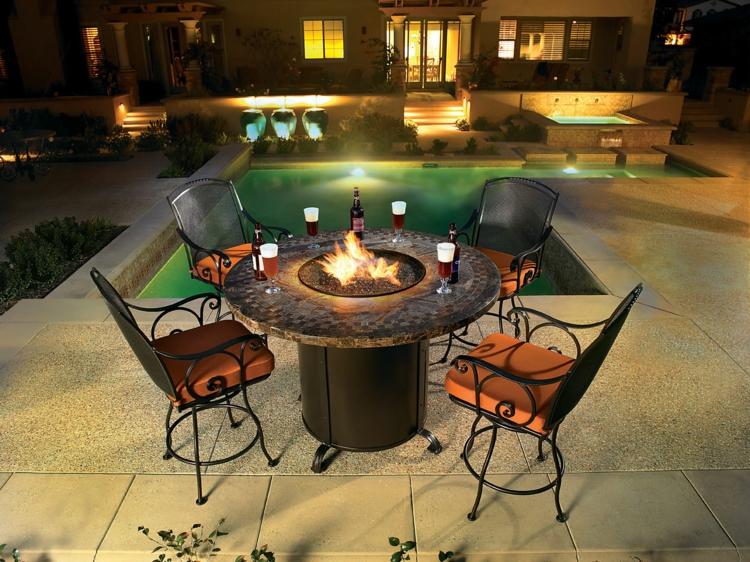 outdoor gaskamin gartenkamin am pool