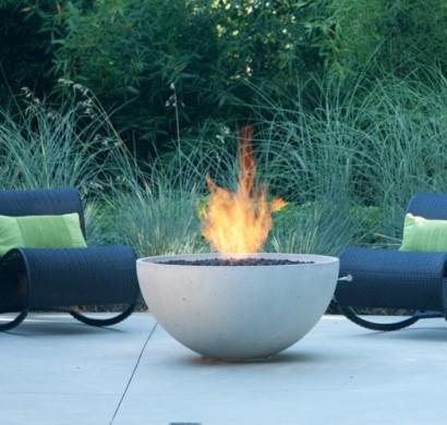 Gaskamin Terrasse mit einem outdoor gaskamin lässt sich der sommer beliebig verlängern