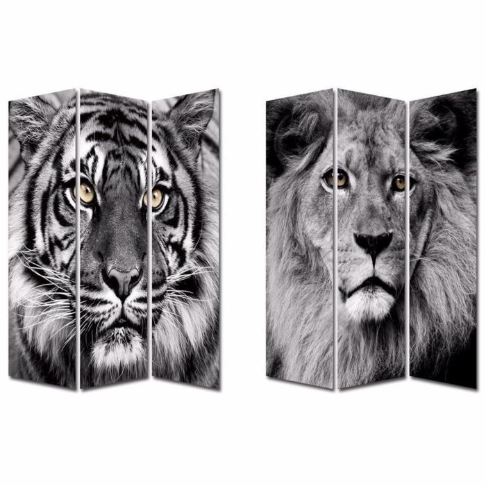 paravents diy ideen raumteiler fotos tiger löwe hogarymas.es