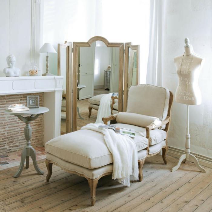 Verwenden Von Spiegeln Im Inneren Des Wohnzimmers Um Den: 39 Paravents Ideen Für Mehr Wohnlichkeit Und Privatsphäre
