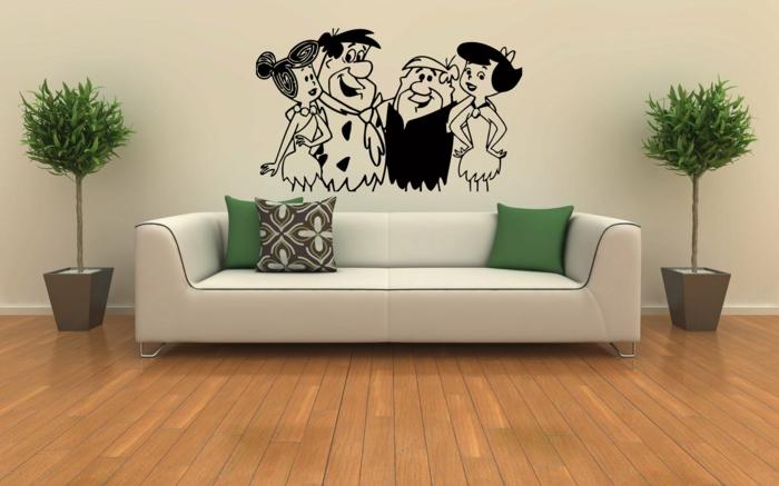 Bilder Wohnzimmer Sofa Wandsticker Pflanzen Pflegeleicht