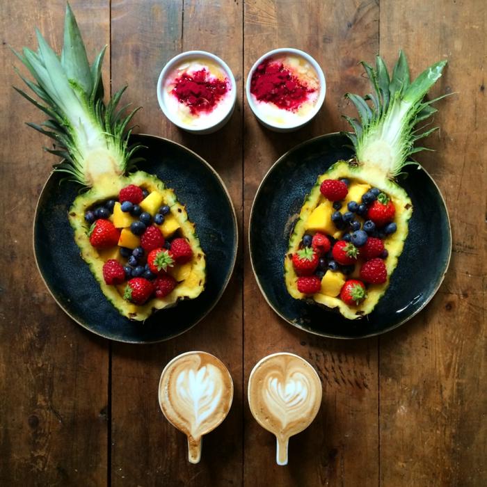 frühstücksideen leckeres frühstück gesundes frühstück rezepte ananas