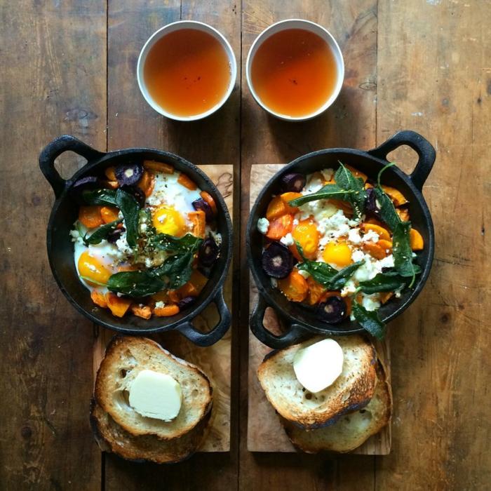 frühstücksideen leckeres frühstück gesundes frühstück rezepte mangold spinat