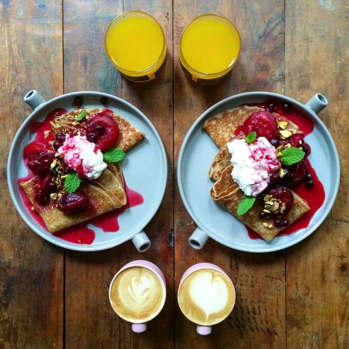 frühstücksideen leckeres frühstück gesundes frühstück rezepte pfannkuchen himmbeer
