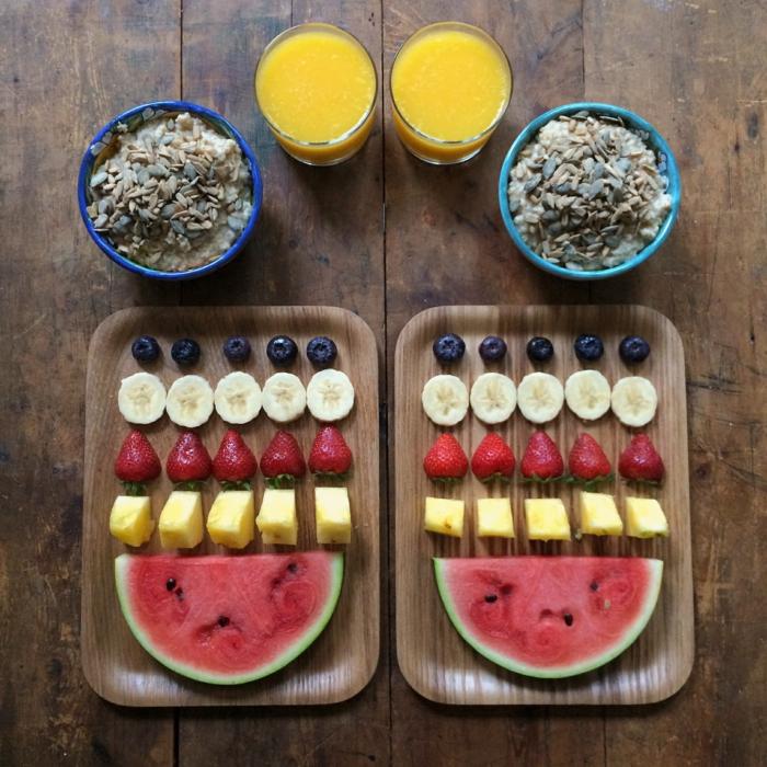 weight watchers frühstück leckeres frühstück obst körner saft
