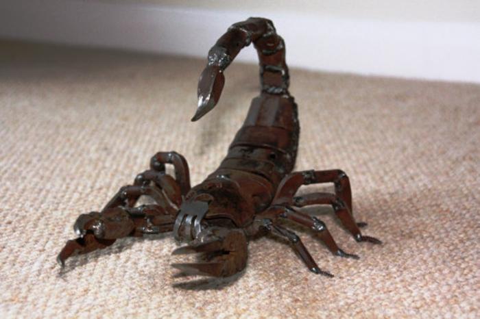 recycling basteln - 20 originelle tier- und insektenfiguren, Garten ideen
