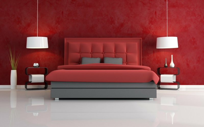 schöne wandfarben ideen schlafzimmer wandfarbe rot