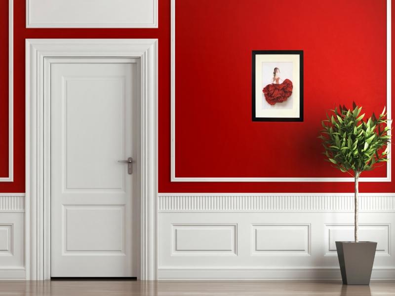 schöne wandfarben ideen wandfarben kombinieren rot weiß