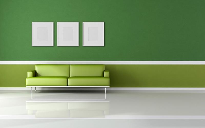 Schlafzimmer schlafzimmer rosa grün : die entspannende Wirkung der grünen Wandfarbe
