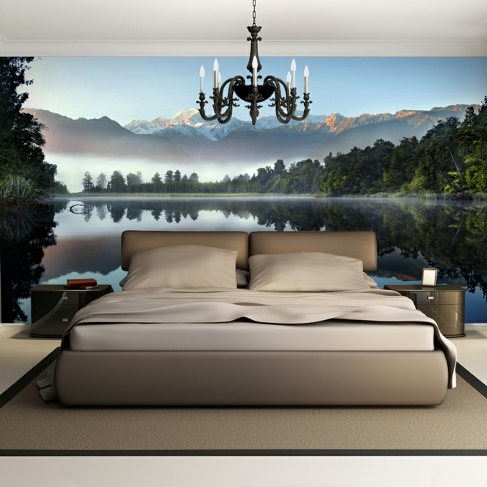 design fototapete schlafzimmer. Black Bedroom Furniture Sets. Home Design Ideas