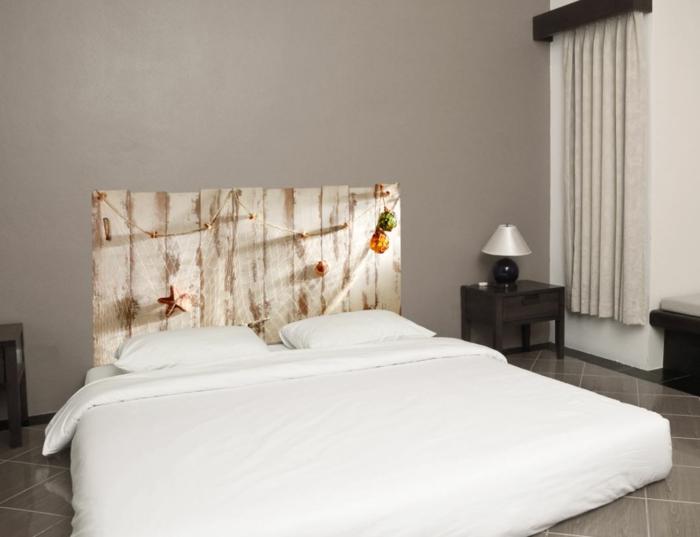 Schlafzimmer Ideen Diy Kopfteil Selber Machen Holzpaletten Holzbohlen