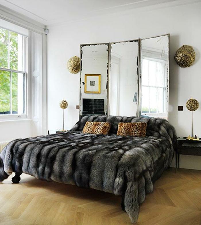 Schlafzimmer Ideen Kopfteil Spiegel Diy King Size Bett