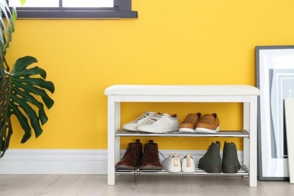 schuhregal selber bauen diy schuhregal Schuhschrank ideen eingangsbereich möbel
