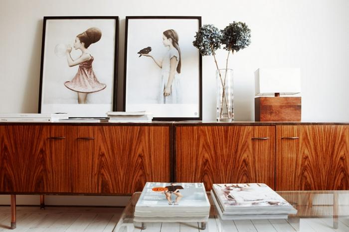 Ikea k che schwarz abstrakt for Dekoideen sideboard