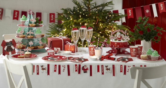 Weihnachtliche tischdeko selbst gemacht 55 festliche - Tavole apparecchiate moderne ...