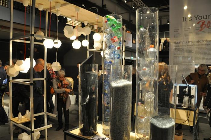 trends möbel dutsch design week geometrische lampenschirme plastikflaschen deko