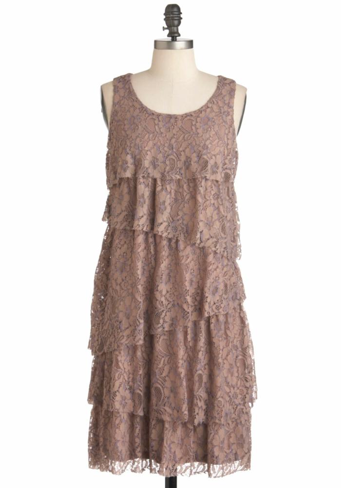 vintage kleider 20er romantisch altrosa vintage mode damen