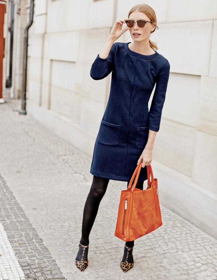 vintage kleider elegant blau 40er