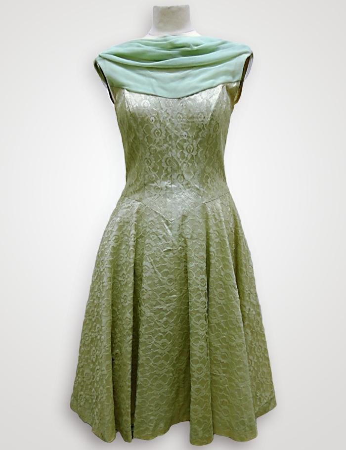 vintage kleider grünes kleid 50er vintage mode