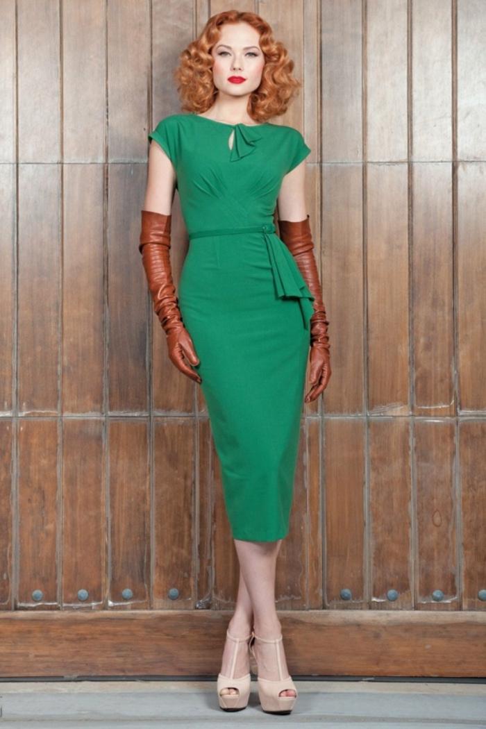 vintage kleider grünes kleid vintage mode damen 40er