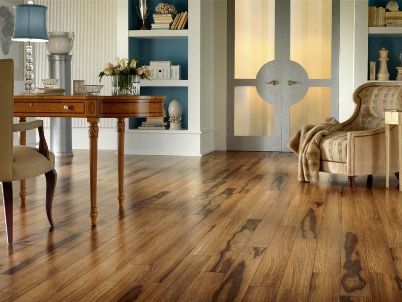 Holz Imitation in Form von Laminat mit warmer Ausstrahlung