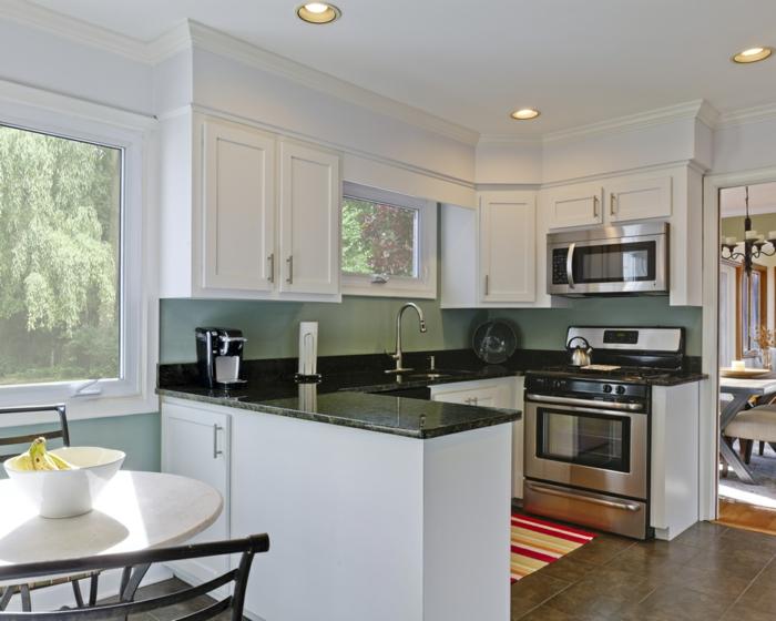 wandfarbe k che ausw hlen 70 ideen wie sie eine wohnliche k che gestalten. Black Bedroom Furniture Sets. Home Design Ideas