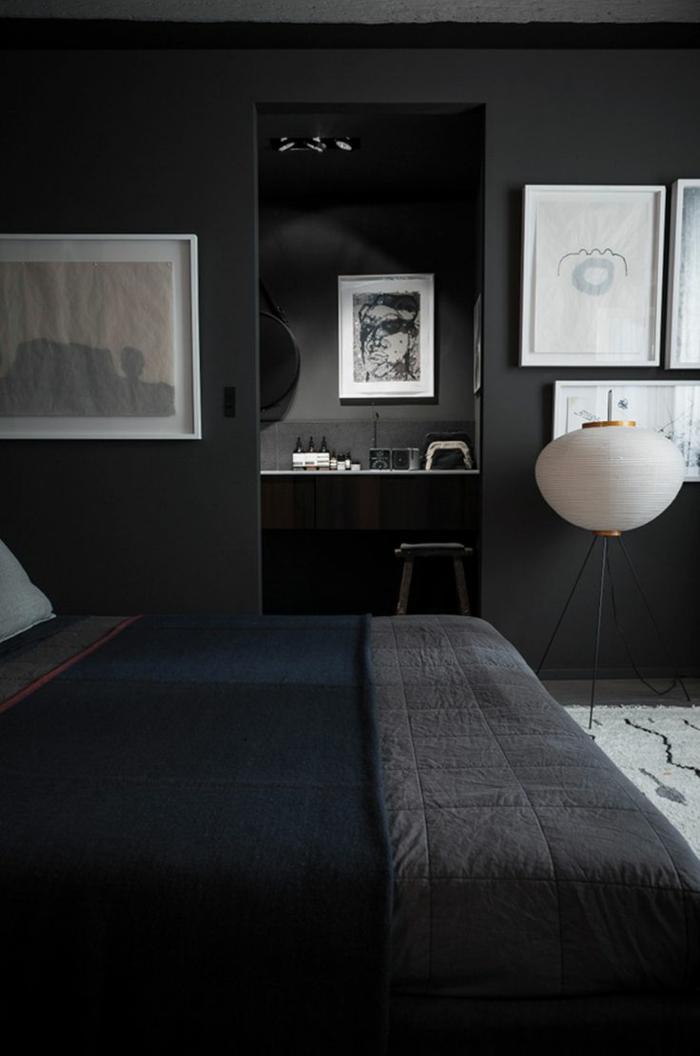 wände streichen ideen wohnideen schlafzimmer stehlampe teppich