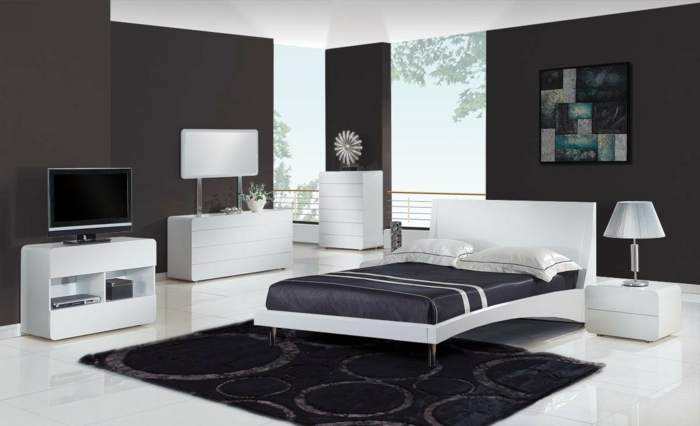 w nde streichen ideen in dunklen schattierungen. Black Bedroom Furniture Sets. Home Design Ideas