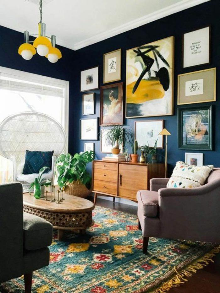 wände streichen ideen wohnideen wohnzimmer farbiger teppich wandeko